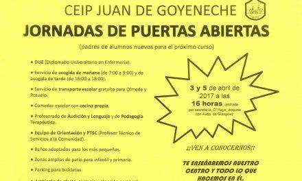 Jornada de Puertas abiertas del C.E.I.P Juan de Goyeneche