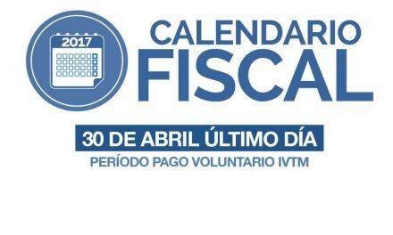 Hasta el 30 de Abril período de pago voluntario de IVTM