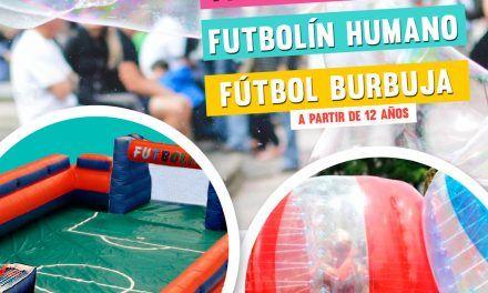 Jornada de actividades: Yinkana, Futbolín Humano, Fútbol burbuja