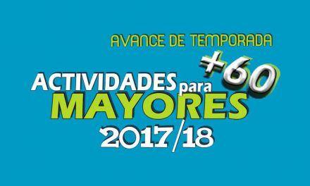 Actividades 2017/2018 para Mayores de +60 años
