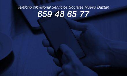 SOLUCIONADO – Teléfono provisional de Servicios Sociales: 659486577