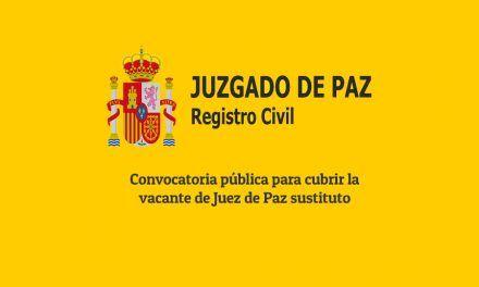 Convocatoria pública para cubrir la vacante de Juez de Paz sustituto.