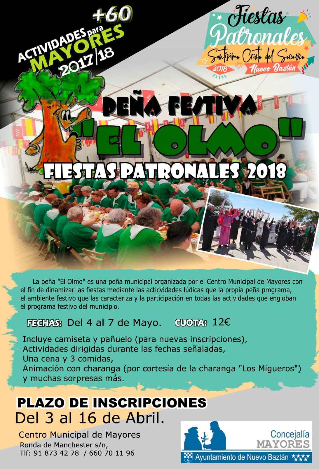 Peña Festiva El Olmo, fiestas patronales 2018