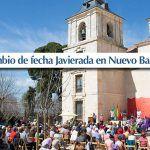 Cambio de fecha de la Javierada a Nuevo Baztán