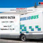 Horario verano BiblioBus en Nuevo Baztán (julio y septiembre)