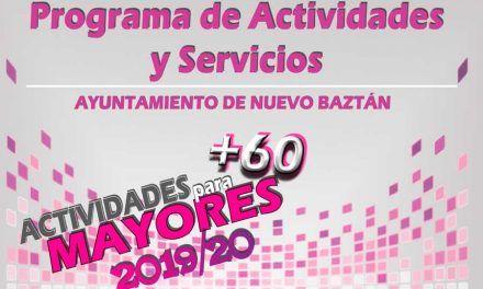 Programa de actividades y servicios del Ayuntamiento de Nuevo Baztán para el curso 2019-2020 del centro municipal de mayores