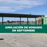 El Punto Limpio Municipal amplía su horario de verano durante el mes de Septiembre