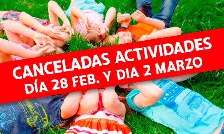 Actividades para los días NO LECTIVOS del 28 de febrero y 2 de marzo de la Ludoteca La Carraca