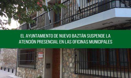 El Ayuntamiento de Nuevo Baztán suspende la atención presencial en las Oficinas Municipales