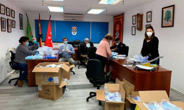 Comienza el reparto de mascarillas en Nuevo Baztán