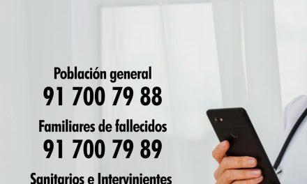 Teléfonos atendidos por Psicólog@s para afrontar el COVID19