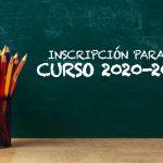 Se abre el plazo de inscripción para el curso 2020-2021