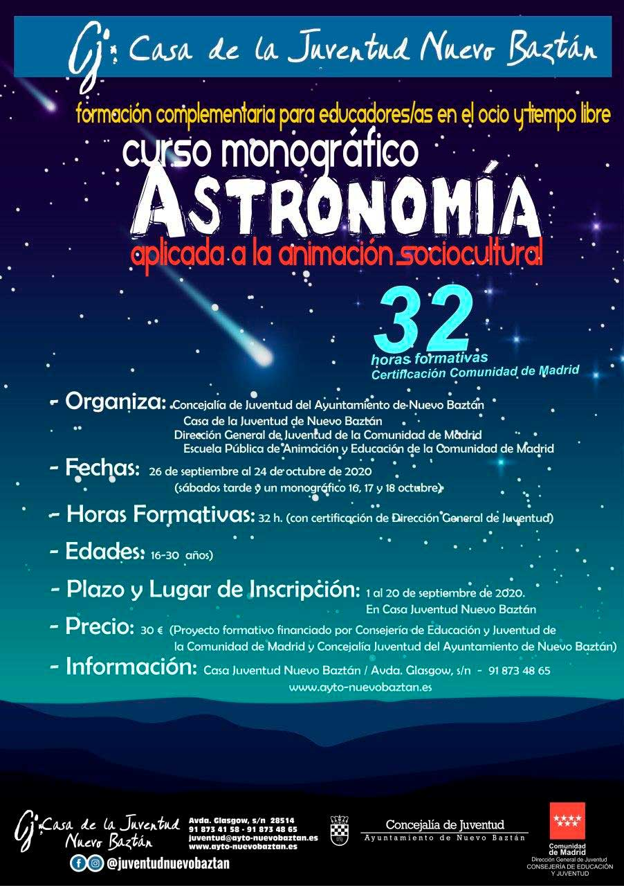 Curso Monográfico sobre Astronomía aplicada a la Animación Sociocultural
